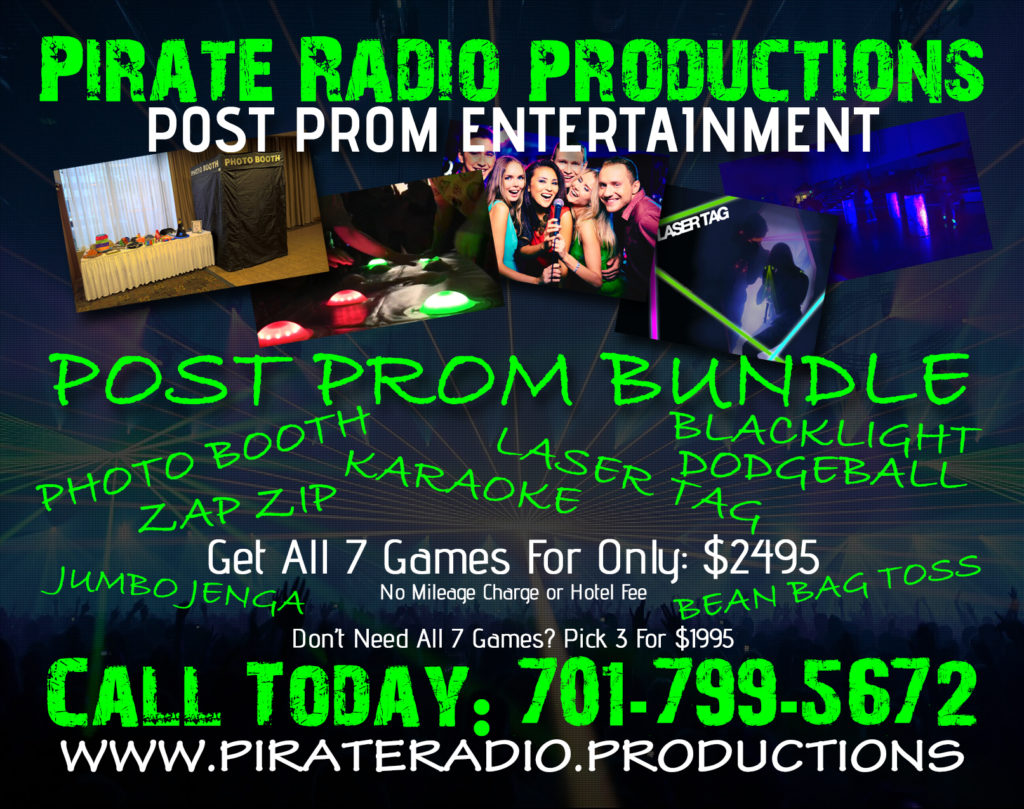 2018 Post Prom Entertainment Bundle | Pirate Radio Productions