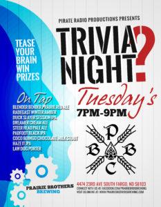 Trivia Tuesday @ Prairie Brothers Brewing   Fargo   North Dakota   United States